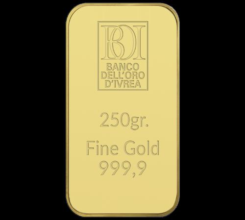Lingotto 250 grammi oro al miglior prezzo