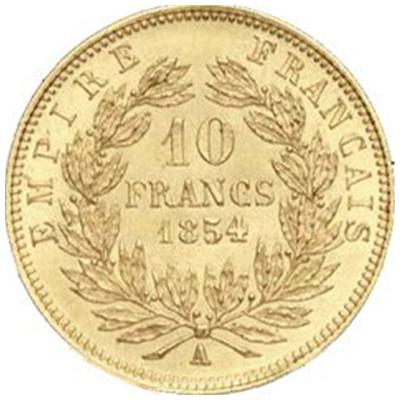10 FR NAP III 1854