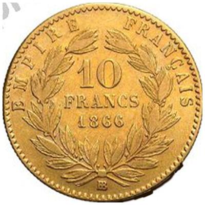 10 FR NAP III 1866